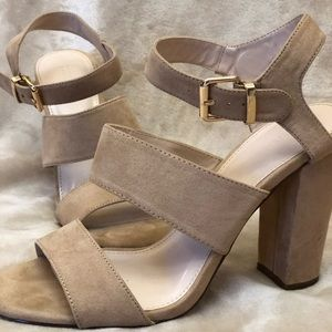 👡 Size 8.5 Nude Heeled Sandals 👡